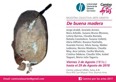 camino por las artes exposicion arte objeto de buena madera ungs flyer (4)